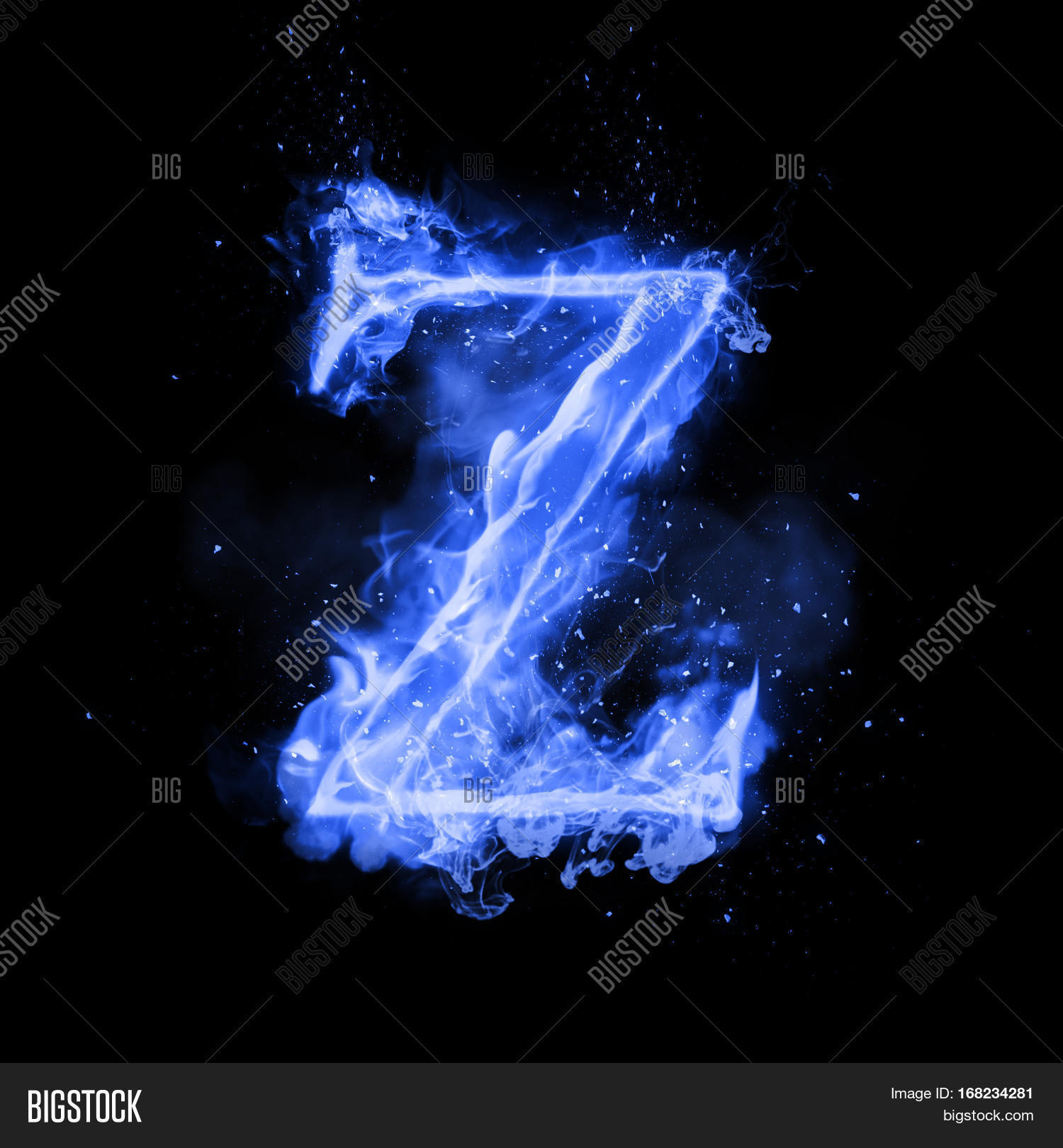 Fire Letter Z Burning Image & Photo (Free Trial)   Bigstock