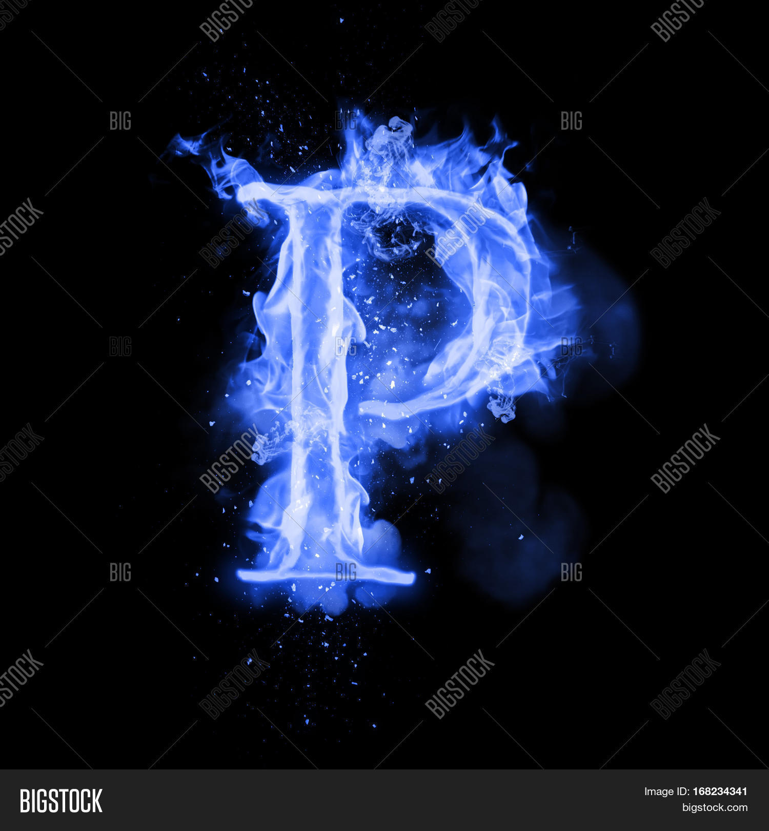 Fire Letter P Burning Image Photo Free Trial Bigstock