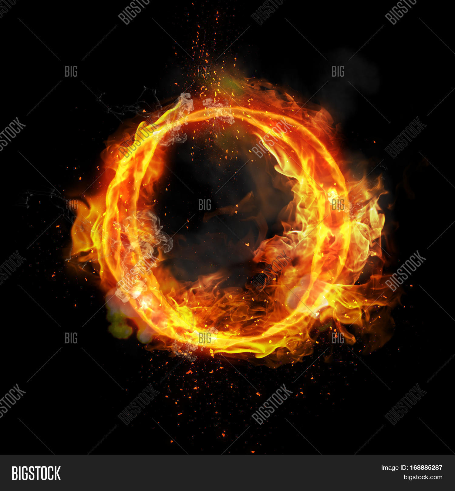 Fire Letter O Burning Image & Photo (Free Trial) | Bigstock