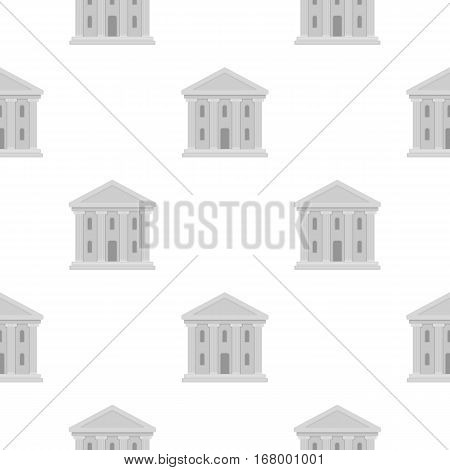 Theatre building icon in cartoon style isolated on white background. Theater pattern vector illustration