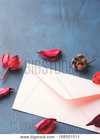 Pink Envelope For Romantic Love Letter