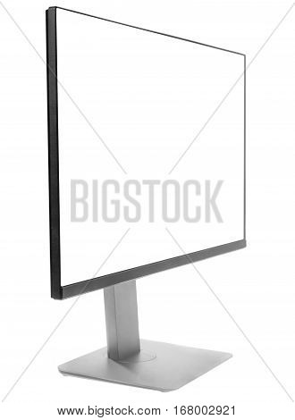 Monitor, computer display, angle view - isolated on white background