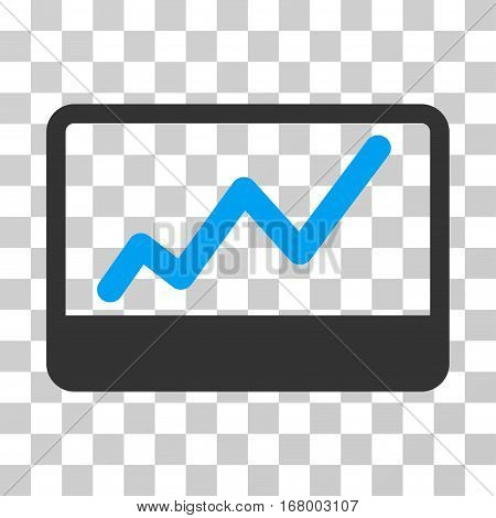 Stock Market icon. Vector illustration style is flat iconic bicolor symbol, blue and gray colors, transparent background. Designed for web and software interfaces.