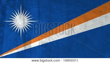 Grunge Flag of the Marshall Islands
