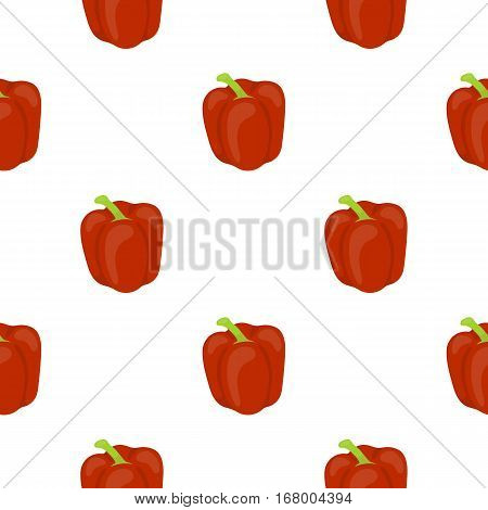 Pepper icon cartoon. Singe vegetables icon from the eco food cartoon. - stock vector