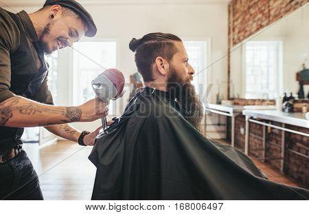 Hairdresser Attending The Client