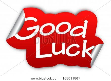This is red vector sticker good luck