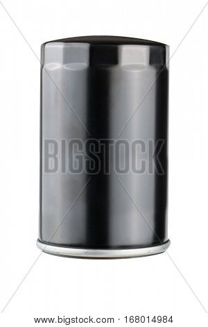 isolated oil filter on white background