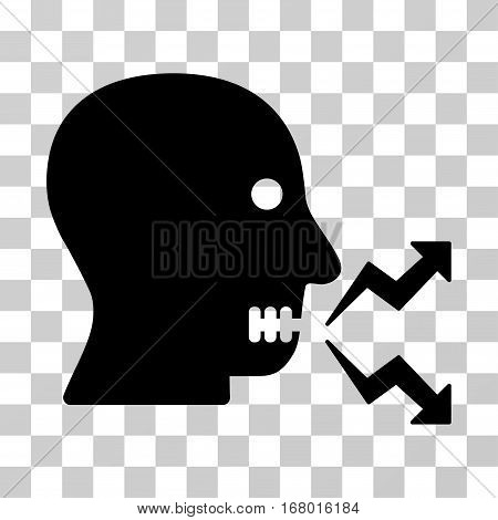 Angry Person Shout icon. Vector illustration style is flat iconic symbol, black color, transparent background. Designed for web and software interfaces.