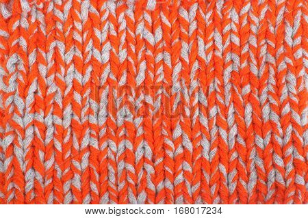 Pattern of the Knitted Fabric Texture. Woolen background