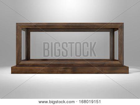 Glass Display Case Frame Horizontal
