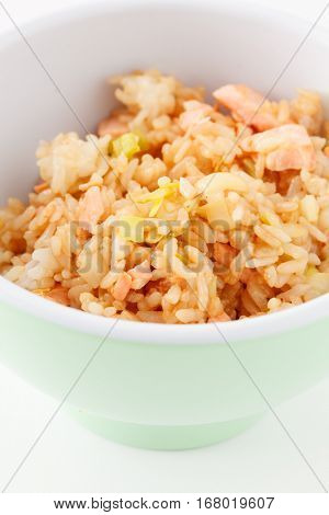 rice with salmon