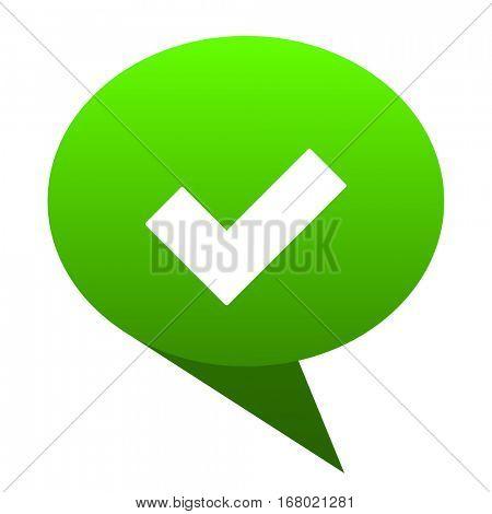 accept green bubble web icon