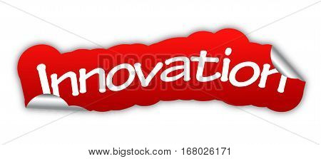 innovation sticker innovation red sticker innovation red vector sticker innovation innovation eps10 design innovation