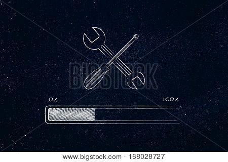 Wrench And Progress Bar, Fix Loading