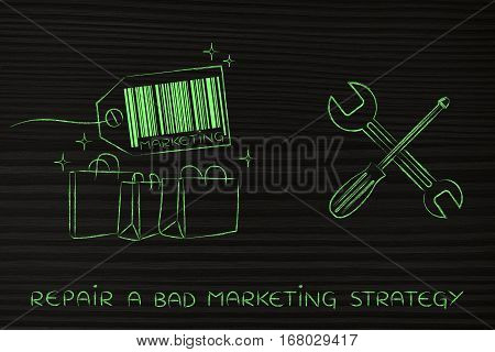 Fixing Your Marketing Strategy, Products With Wrench & Screwdriver