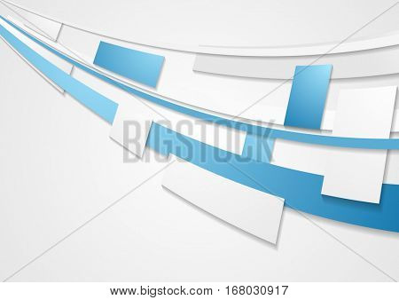Blue grey motion tech brochure corporate background. Vector template design  eps 10