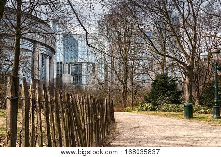 as most world capitals in Brussels peacefully coexist old and new