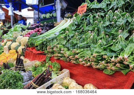 Fruit And Vegetable Stalls In Bursa Turkey