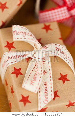 Christmas Presents In Kraft Paper