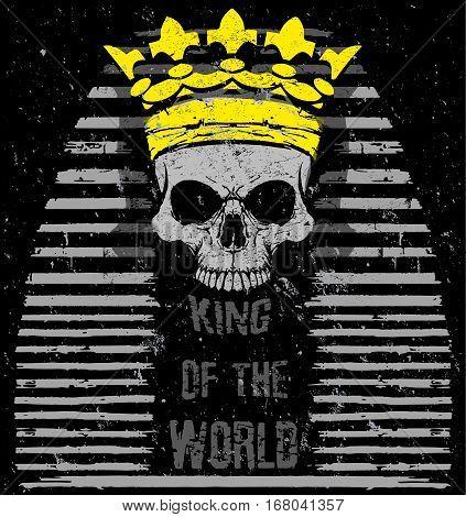 Vector illustration Egyptian Skull T shirt Graphic Design