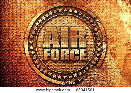 air force, 3D rendering, grunge metal stamp