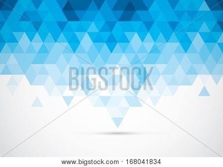 Vector of modern geometric triangular element and background
