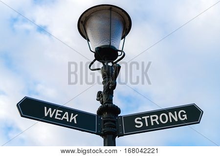Weak Versus Strong Directional Signs On Guidepost