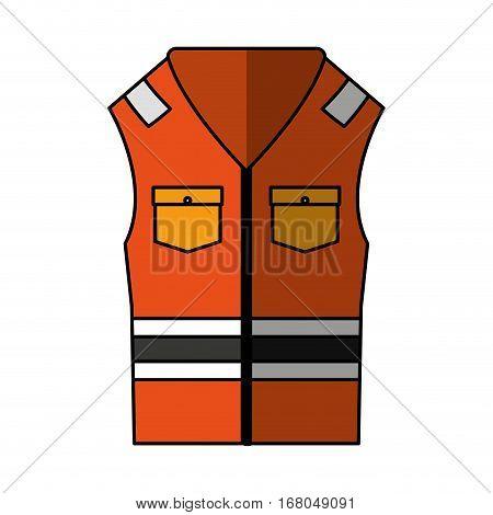 jacket safety isolated icon vector illustration design