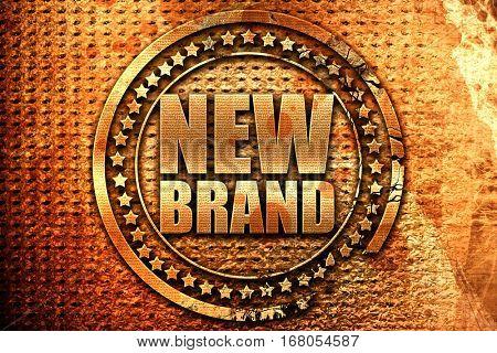 new brand, 3D rendering, grunge metal stamp