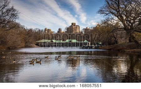 Central Park Boathouse in New York City USA