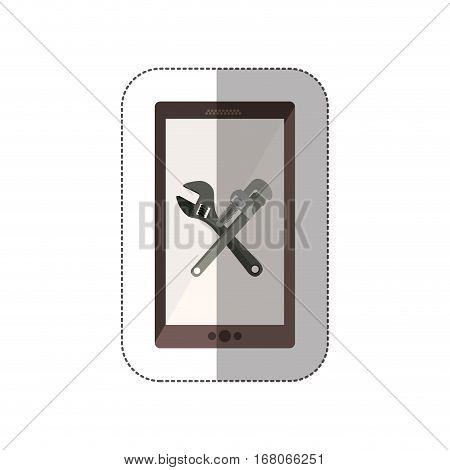 Technical service for technology devices icon vector illustration graphic design