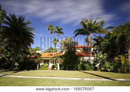 Stock photo of a single family home in South Florida built in the 1950's
