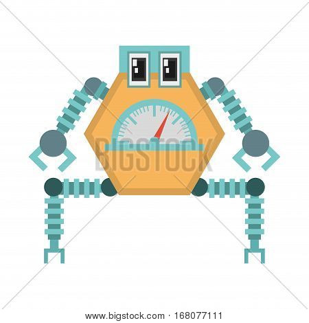 robot multi-task technology pincers arms vector illustration eps 10