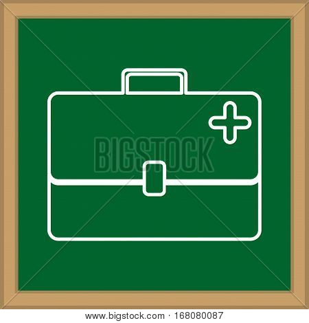First aid suitcase icon vector illustration graphic design