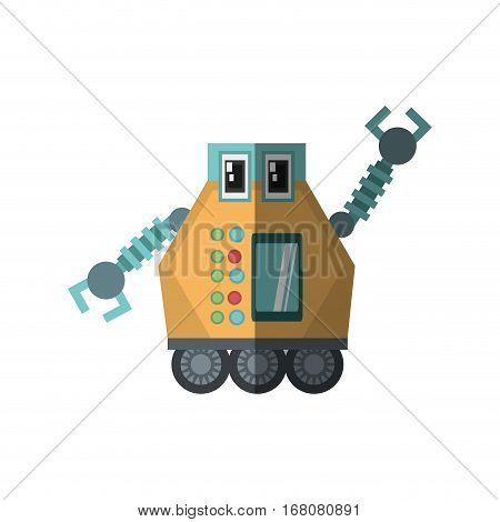 robot multi-task technology shadow vector illustration eps 10
