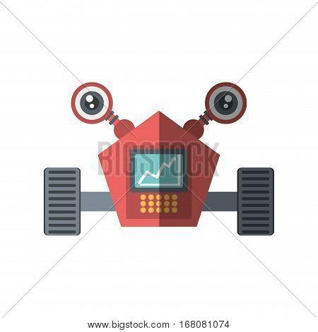 robot eletronic mechanical modern shadow vector illustration eps 10