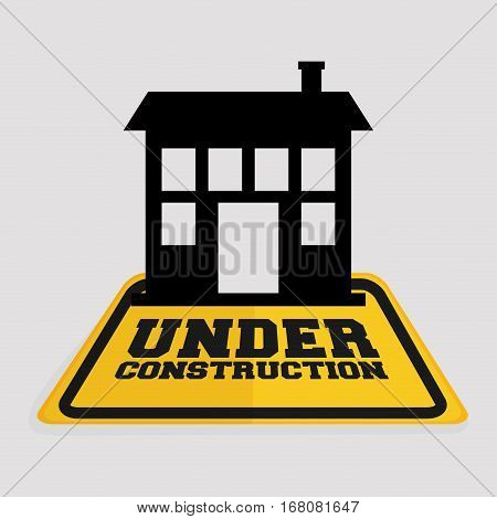under construction house building real state vector illustration eps 10