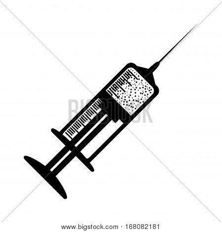 Syringe medical equipment icon vector illustration graphic design