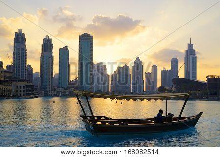 DUBAI, JANUARY 09, 2017 - Cityscape of Dubai, UAE, Asia