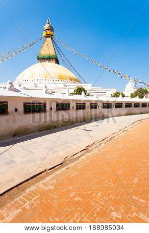 Boudhanath Stupa Ground Level Nobody