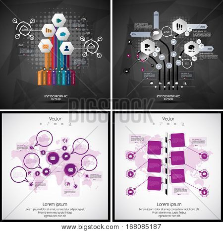 Set of infographic design layouts