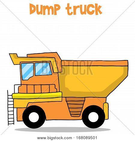 Dump truck cartoon vector art collection stock