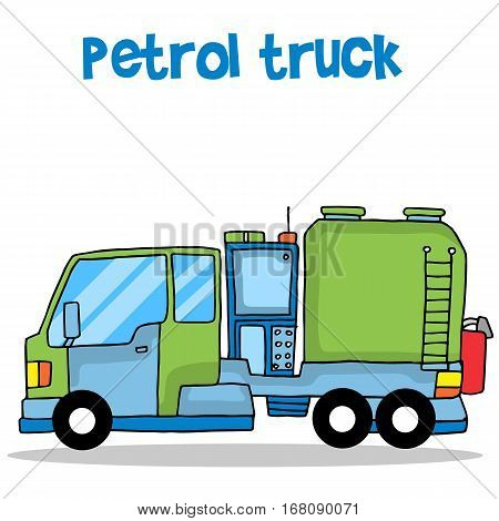 Petrol truck of transportation vector collection stock