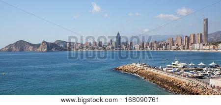 City scape panorama. Benidorm, Spain