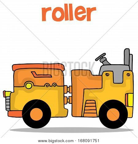 Illustration vector art of roller collection stock