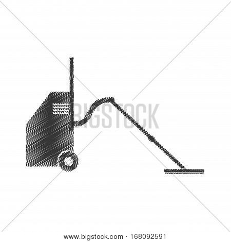 drawing vaccum cleaner equipment pictogrma vector illustration eps 10