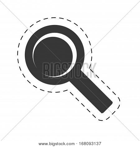 search magnifier loupe find pictogram vector illustration eps 10