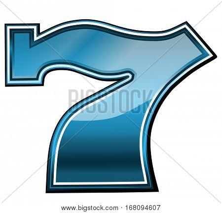 Lucky seven slot machine symbol