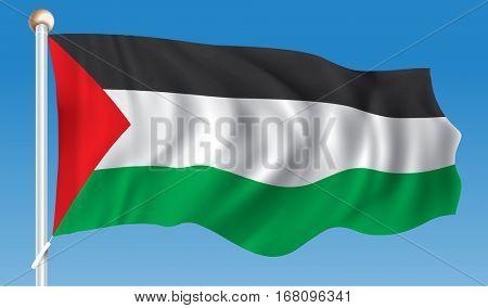 Flag of Gaza Strip - vector illustration